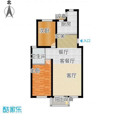 锦绣四合院101.00㎡情景洋房3F户型