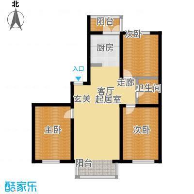 馨丽康城户型3室1卫
