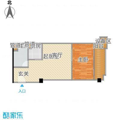 东城国际公寓909单位户型