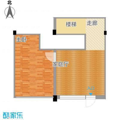 华宇凤凰城68.00㎡复式户型
