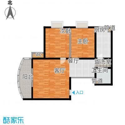 西城公馆108.54㎡户型