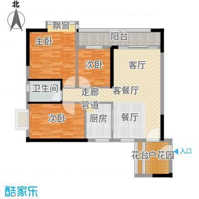 广电大德路项目兰亭�濠大厦100.00㎡T2-03单元带花园户型