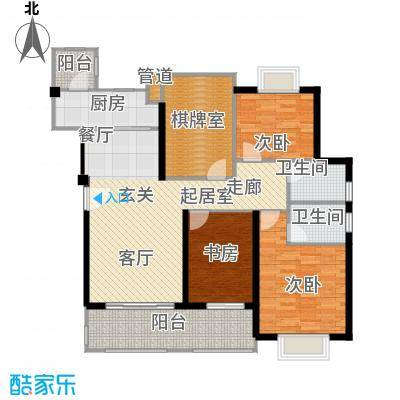 翰林国际领颂翰林国际120.48㎡9号楼4-8标准层01单元户型