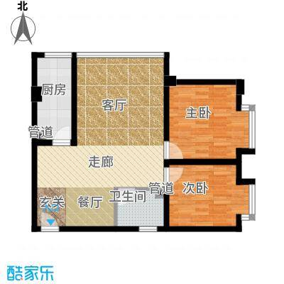 左林右舍61.98㎡房型户型