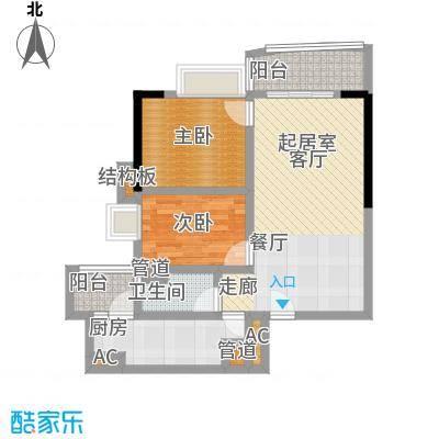 中惠俪城77.00㎡06户型