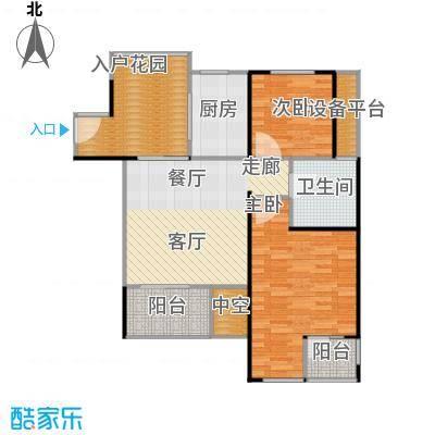 万科金色家园93.00㎡C栋401-3001单元户型