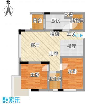 天一顺和康城67.38㎡房型户型