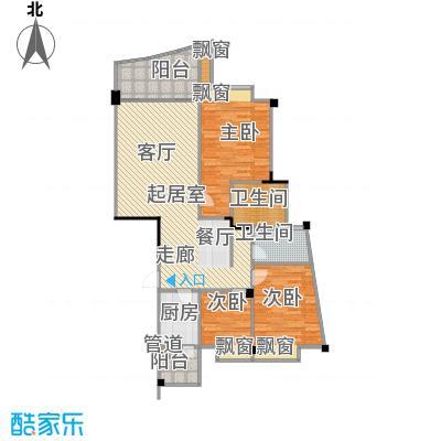 南滨印象105.00㎡房型户型
