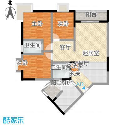 龙脊万兴家园118.29㎡房型户型