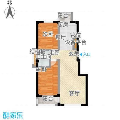 中瀛臻堡88.58㎡户型