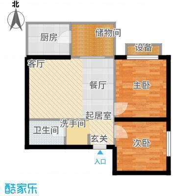 曲江雁唐府邸62.63㎡A型结构户型