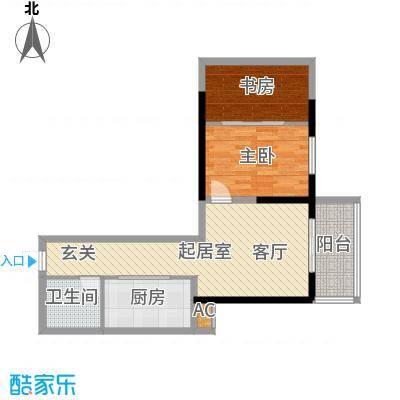 华宇上领国际公寓67.72㎡2#B户型