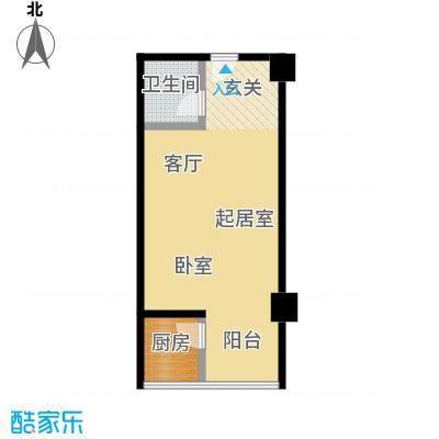 华旗国际广场52.82㎡H户型