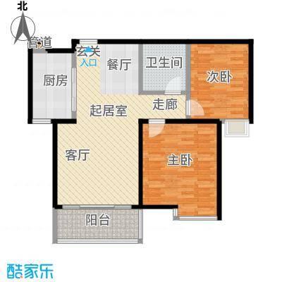 枫林华府85.00㎡7/8号楼户型