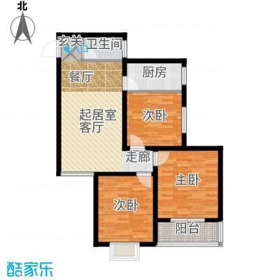 国际幸福城103.13㎡二期珑原宠润2、3号楼G户型