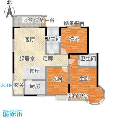龙记帝景湾121.40㎡C户型