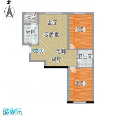 中顺和苑89.00㎡B二居室户型