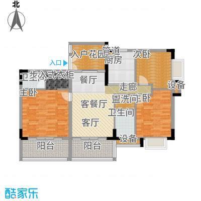 岭南公馆5栋605单元户型