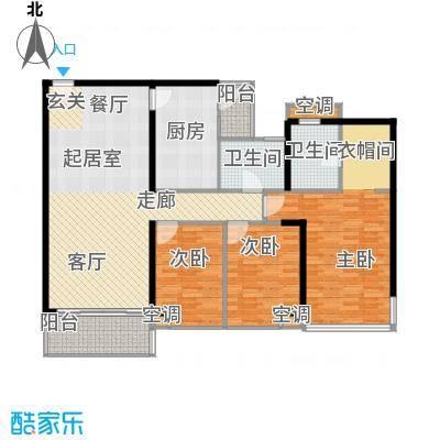 雍翠雅园131.80㎡东雅轩01户型