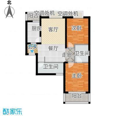 辰龙广场户型2室1厅2卫1厨