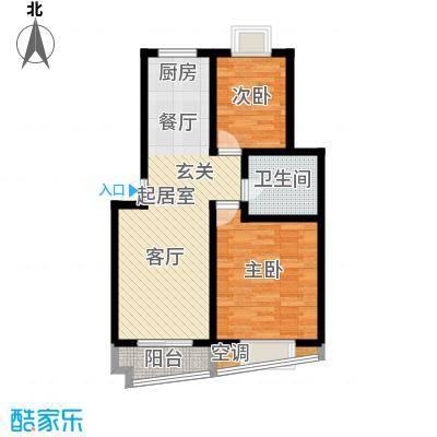 星河枫园户型2室1卫
