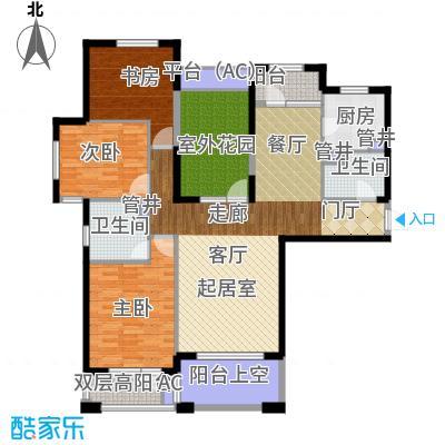中海华庭140.00㎡高层D1户型