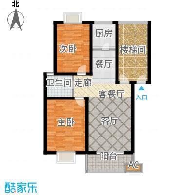 广汇花园户型2室1厅1卫1厨