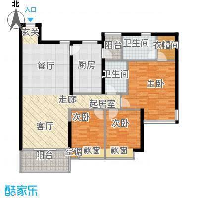 雍翠雅园119.45㎡东翠轩01户型