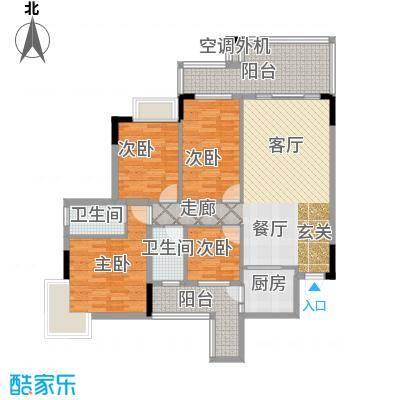 新天美地花园户型4室1厅2卫1厨
