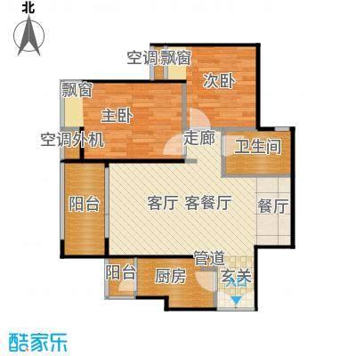 东方新世界户型2室1厅1卫1厨