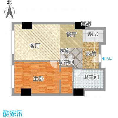 珠江时代广场102.95㎡户型