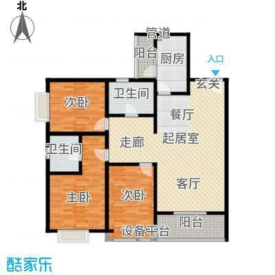 龙记帝景湾145.58㎡B4号楼B户型