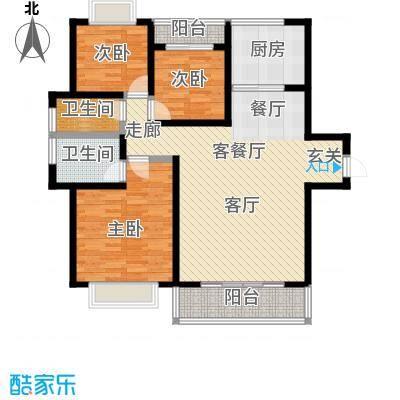 华城万象2期-彩虹城118.92㎡户型