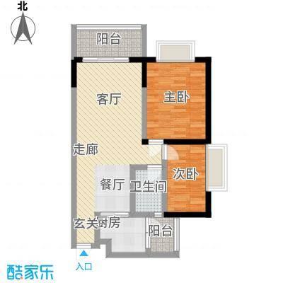 合正锦园户型2室1厅1卫1厨