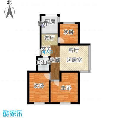 鑫丰馨园95.60㎡房型户型