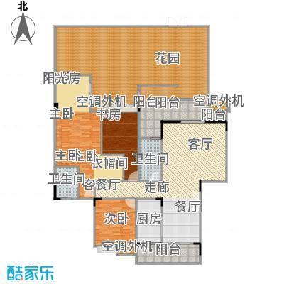 福江・名城名城120.03㎡一期4号楼1单元1层1号房3室户型