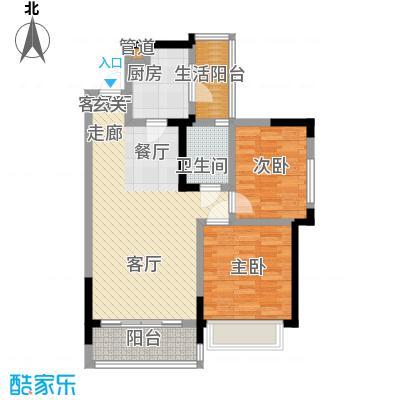 润锦・御珑山御珑山89.78㎡润锦御珑山一期5号楼标准层C1风尚时代户型