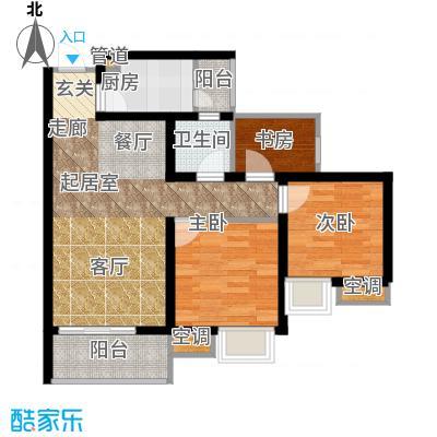 寓乐圈永缘・寓乐圈65.32㎡三期7、8、9号楼标准层E户型