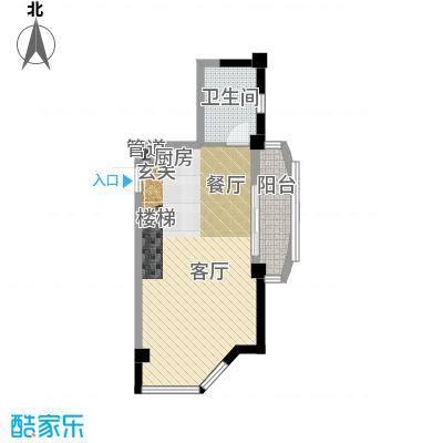 天元公寓51.00㎡房型复式户型