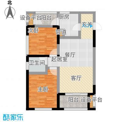 城市童话56.34㎡一期单体楼标准层A户型