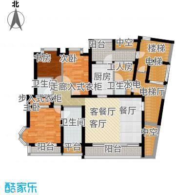 百合公寓116.00㎡房型户型