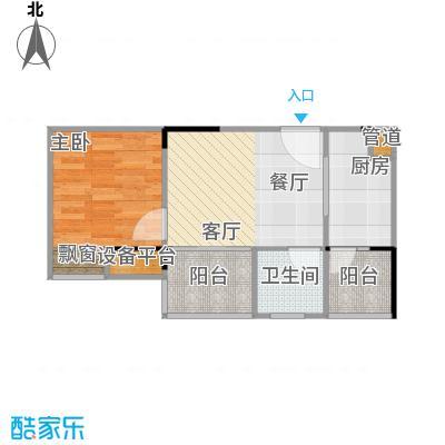 华宇・金沙港湾户型1室1厅1卫1厨