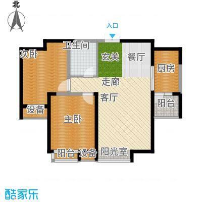 绿城・春江花月98.00㎡房型户型
