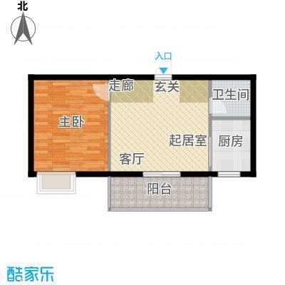 华府新桃园62.72㎡户型