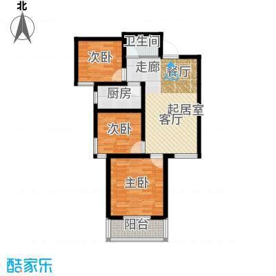 国际幸福城88.59㎡二期珑原宠润2、3号楼H户型