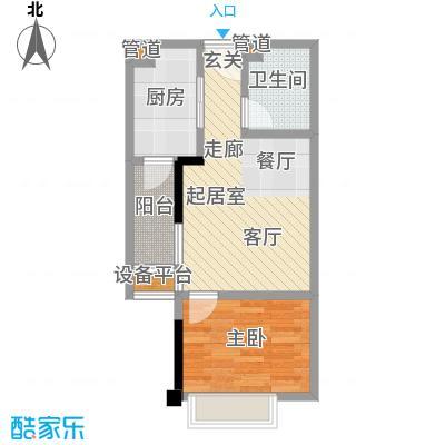 康田国际38.92㎡套内-户型
