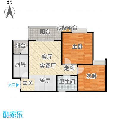 晋愉・九龙湾60.89㎡房型户型