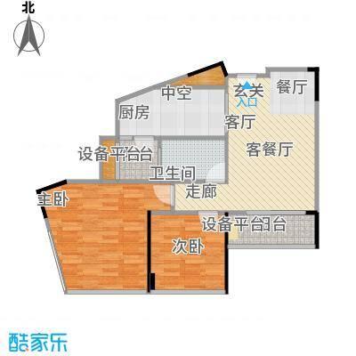 尚城国际73.69㎡户型