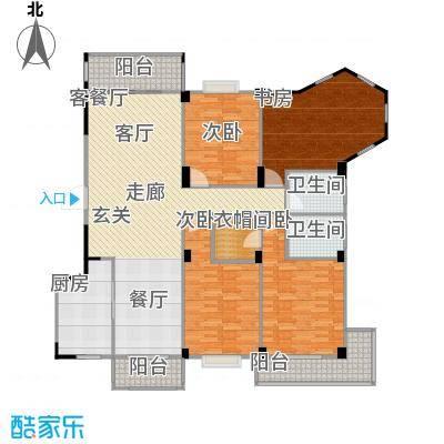 五里汉城140.00㎡房型户型