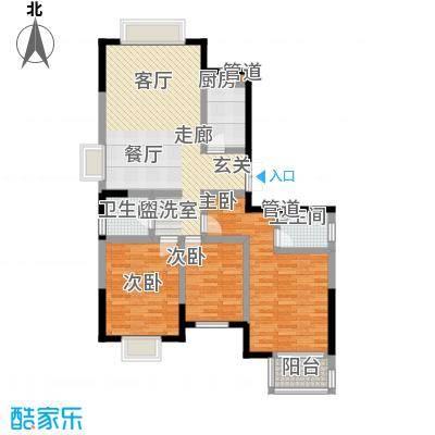 万和源居户型3室1厅2卫1厨